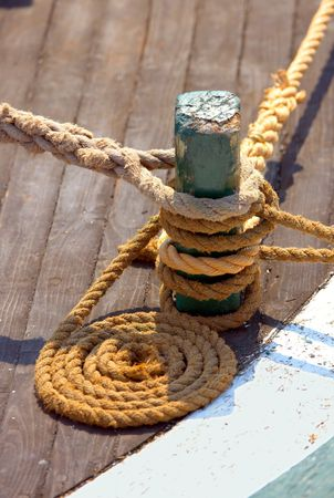 commercial fishing: A photo of details of a boat