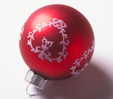 A macro photo of a Christmas ball - very sharp and detailed photo