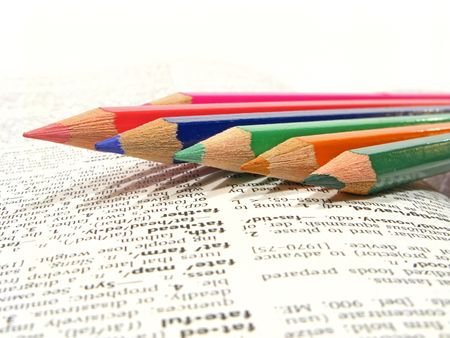 A group of colorful drawing pencils Stock Photo - 2319277