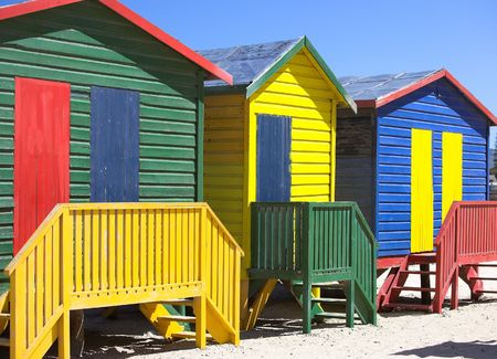 A photo of beach houses in Cape Town Stock Photo - 2554049