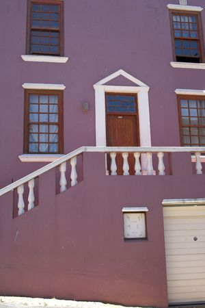 A photo of the colorful Muslim quarter in Cape Town photo