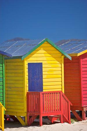 Beautiful beach huts a warm summer day Stock Photo - 2795777