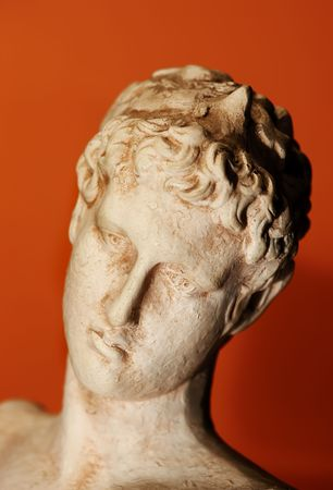 A photo of old Greek bust (philosopher) photo