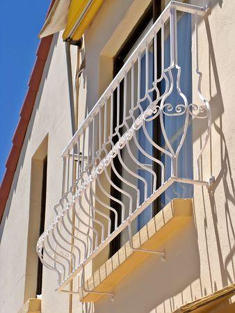 An oldtime balcony in Spain photo