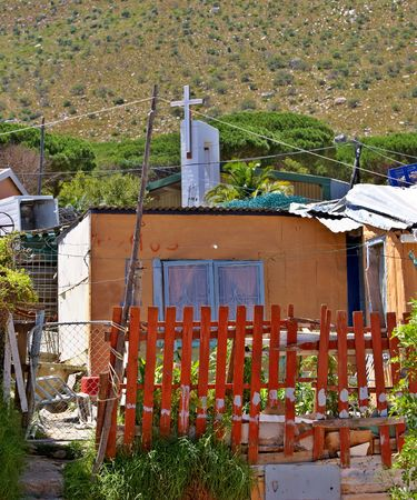 penury: Documentary: Editorial photo of a poor black township (informal setting) close to Cape Town, South Africa
