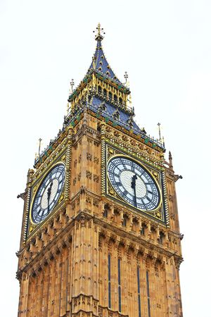 A telephoto of Big Ben, London photo