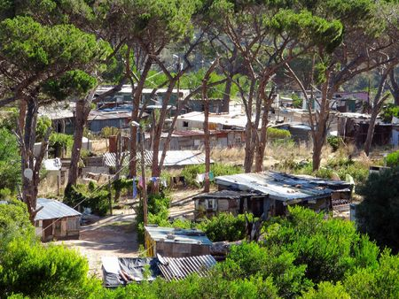 penury: A photo of a township in South Africa