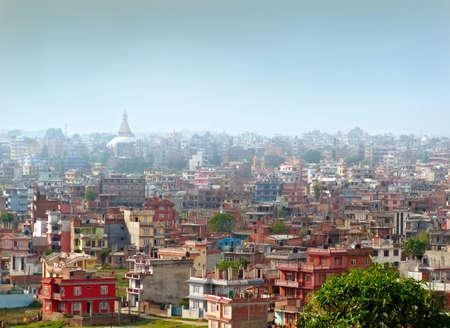 kathmandu: An eveing cityscape of Kathmandu, Nepal. Stock Photo