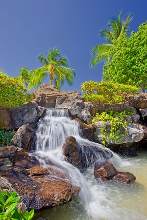 timeshare: Tropical waterfall