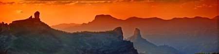 gran canaria: Gran Canarische - een panorama foto