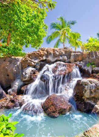 Tropical waterfall photo