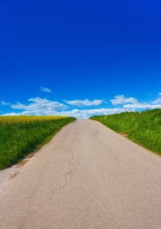 dirtroad: Road at the countryside Stock Photo