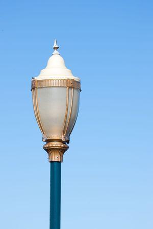 Beautiful street lamp at Fishermans Wharf in San Francisco photo
