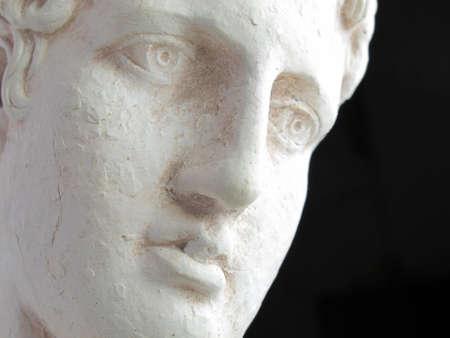 escultura romana: Fil�sofo griego - triste, profunda y enlighted  Foto de archivo