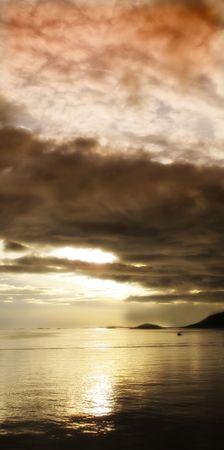 Midnight sun north of the polar circle, Bodo, Norway Stock Photo - 6334651