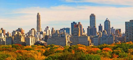 york: Central Park in the fall - New York, USA Stock Photo