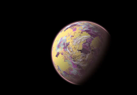 unreal unknown: An imaginary, fantasy planet (science fiction)
