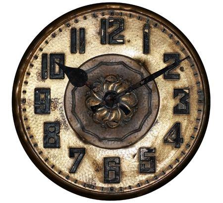 horloge ancienne: Une horloge antique affiche dix pass� dix. Banque d'images