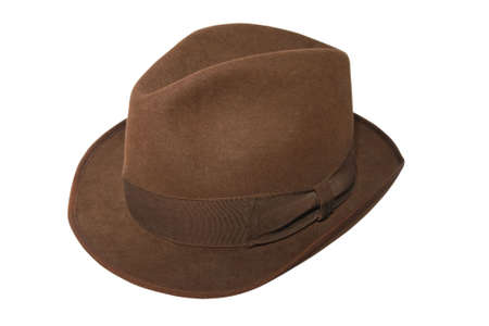 An isolated photo of a  brown hat