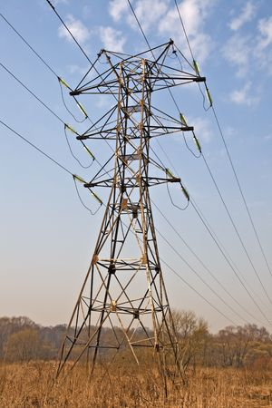 volts: Power transmission tower, view from below