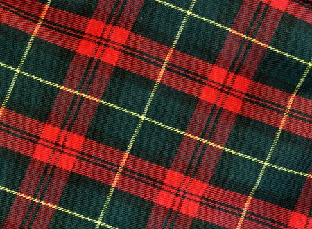 fleece fabric: Close-up of traditional scottish checked material