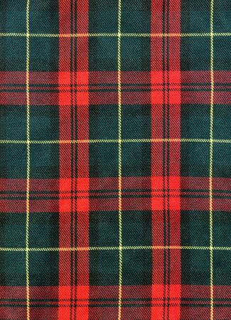 kilt: Close-up of traditional scottish checked material