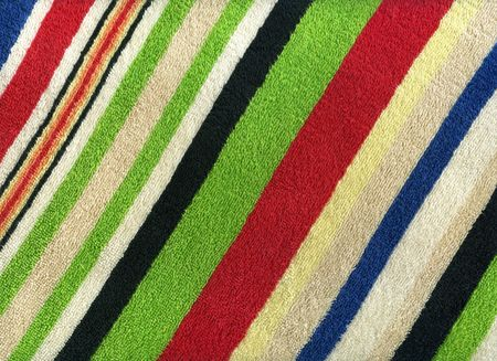 Close-up of a striped colored terry towel photo