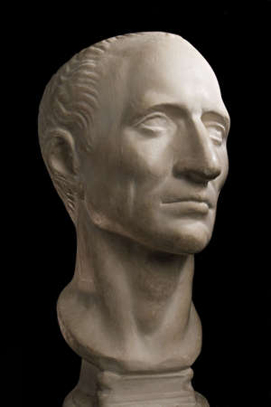 Gypsum head of Julius Caesar