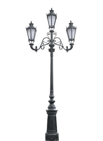 lampposts: Una foto aislada de un poste de alumbrado de la calle de edad Foto de archivo