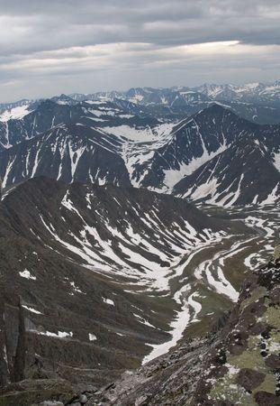 Subpolar Ural mountains, view from mountain Narodnaya photo