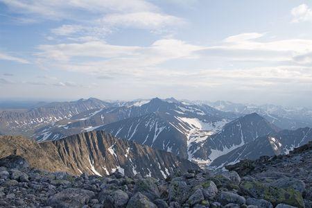 Subpolar Ural mountains, view from mountain Narodnaya