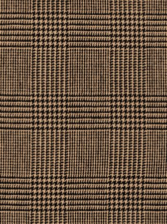 Close-up of a brown checked plaid for background photo
