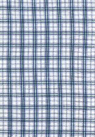 Close-up of a blue checked cloth for background photo