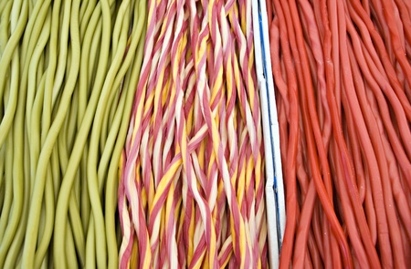 Various colour jelly sticks in a market Stock Photo - 11859153