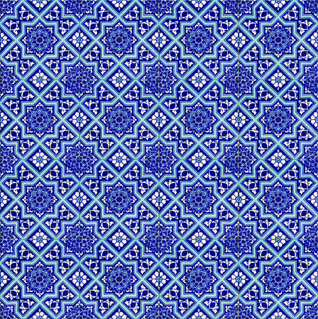 Seamless background made of turkish ceramic tiles photo