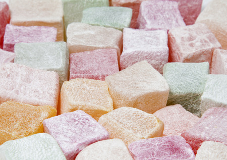 turkish delight: Background of turkish delight, view from above Stock Photo