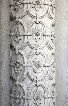 pena: Column in Pena palace in Sintra, Portugal Stock Photo