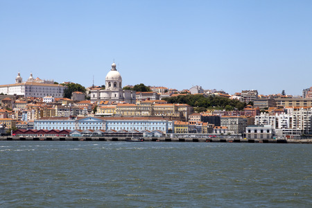 tagus: View of Lisbon, capital of Portugal, from Tagus river