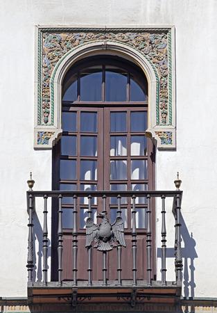 Balcon décoratif d\u0027une maison à Séville, en Espagne photo