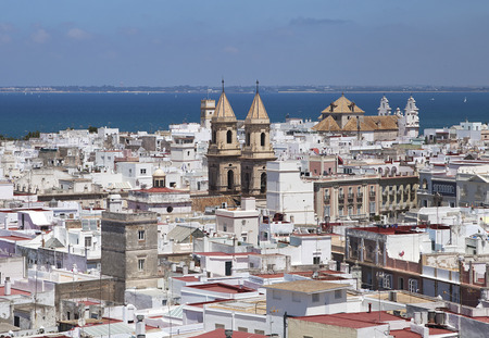 Cadiz, Spain, view from torre Tavira on a sunny day Stock Photo