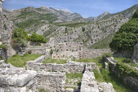 stary: Ruins of Old Bar (Stary Bar), Montenegro Stock Photo