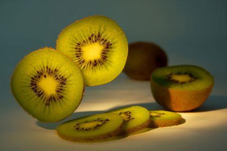 kiwi fruta: kiwi-fruta ex�tica Foto de archivo