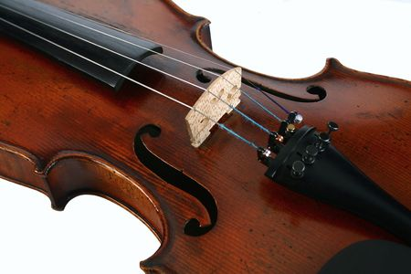The full violin is a classical string musical instrument photo