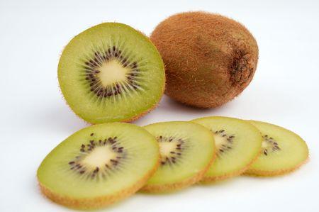 kiwi fruta: Kiwi-el sector de las frutas ex�ticas  Foto de archivo