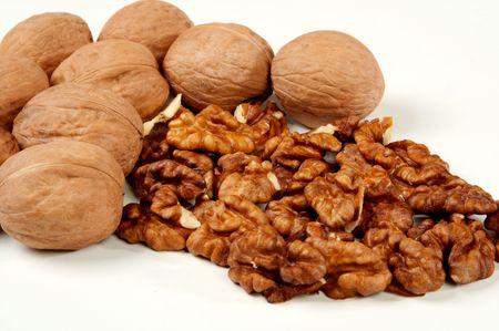 stimulate: Walnuts well stimulate work of a brain Stock Photo