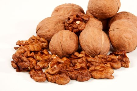 stimulate: Walnuts well stimulate work of a brain Stock Photo