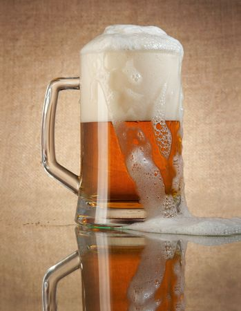 It is impossible to drink a lot of beer, it is injurious to health! Stock Photo - 2733362
