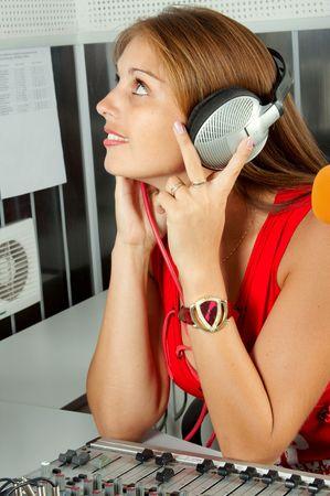 The leader of studio of broadcasting popular FM radio programs photo