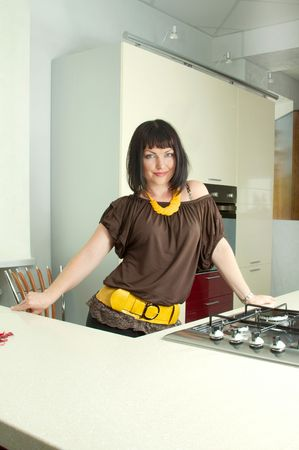 differs: The modern kitchen differs ideal design and convenience Stock Photo