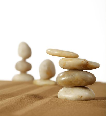 Elements feng shui for a relaxation and concentration of ideas on sand. Stock Photo - 5219016
